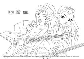 Drawing Of Sparrow Hood And Raven Queen Holding An Electric Guitar