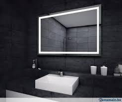 miroir salle de bain avec eclairage led sur measure a vendre