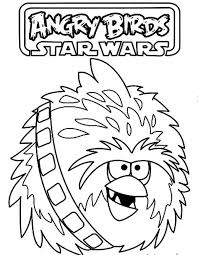 Chewbacca Big Brother Bird In Angry Star Wars Coloring Pages