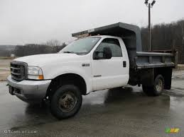 100 4x4 Dump Truck For Sale 2003 Oxford White D F350 Super Duty XL Regular Cab