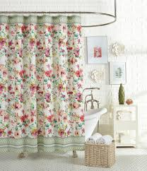 Nicole Miller Home Chevron Curtains by Jessica Simpson Watercolor Garden Floral U0026 Paisley Shower Curtain