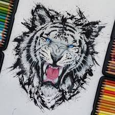 Watercolor Pencils Works By Finland Artist Jonna Scandy Girl