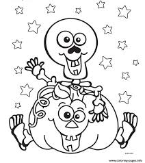 Halloween Skeleton Pumpkin Coloring Pages Printable And Book To Print For Free Find More Online Kids Adults Of