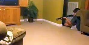 furchtloser jäger gegen wilde bestie mausjagd im wohnzimmer