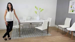 100 White Gloss Extending Dining Table And Chairs Casa