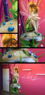 chambre fee clochette aérosoleil peintre en décoration graff graph graffiti
