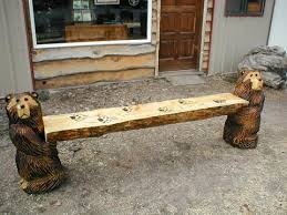 rustic log furniture and chainsaw carvings great northern logworks