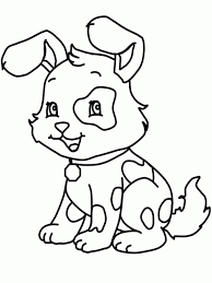 Cute Dogs Coloring Pages 2 Free Printable Dog For Kids