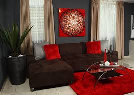 Brown Couch Decor Living Room by Red Decoration For Living Room Love It Home Decor Pinterest