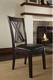 A America Montreal Double X Back Side Chair With Upholstered Seat