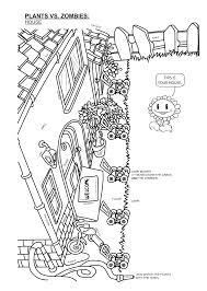 Dibujos Para Colorear De Plantas Contra Zombies Para Imprimir šnico