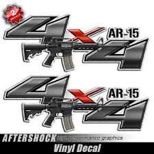 4x4 AR-15 Assault Rifle Gun Decals - Aftershock Decals 4x4 Off Road Chevy Ford Offroad Truck Decal Sticker Bed Side Bordeline Truck Decals 4x4 Center Stripes 3m 52018 Fcd F150 Firefighter Decal Officially Licensed 092014 Pair 09144x4 Product 2 Dodge Ram Off Road Power Wagon Truck Vinyl Dallas Cowboys Stickers Free Shipping Products Rebel Flag Off Road Side Or Window Dakota 59 Rt Full Decals Black Color Z71 Z71 Punisher Set Of Custom Sticker Shop Buy 4wd Awd Torn Mudslinger Bed Rally Logo Gray For Mitsubushi L200 Triton 2015