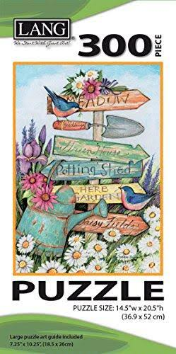 Lang Garden Sign By Susan Winget Jigsaw Puzzle - 300pc