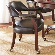 Leather Captains Chairs With Casters | Zef Jam