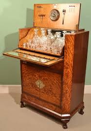 antique deco mahogany cocktail bar c 1920