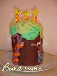 gâteau jungle pour les 4 ans de mon ouistiti bec à sucre
