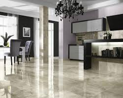 Glossy Marble Ceramic Tile Floor Ideas For Modern Living Room Flooring