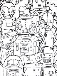 Robot Coloring Book From Doodlers Anonymous Illustration Friday