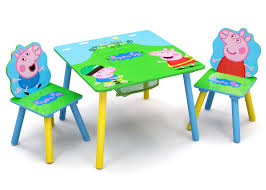 Peppa Pig Wood Kids Storage Table And Chairs Set By Delta Children ...