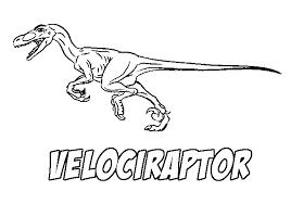 Free Coloring Page Velociraptor Dinosaur