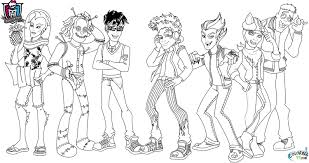 Monster High Rochelle Coloring Pages