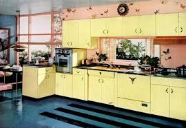 Bright Colors Steel Cabinets Fifties Kitchen Yellow