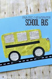 This Painted Newspaper School Bus Craft Is Simple And Fun And