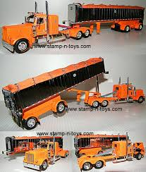 100 Toy Peterbilt Trucks Snt Custom 0017 389 With A Chrome Coal Trailer Stampns