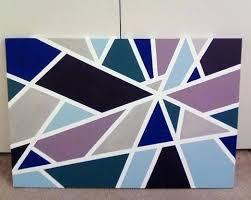 Painting Designs With Tape Masking Best Art Ideas On Easy Canvas