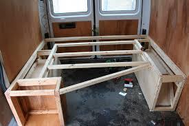 Framing The Sprinter Camper Bed