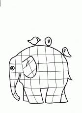 Elmer The Elephant Coloring Pages For Kids And Adults