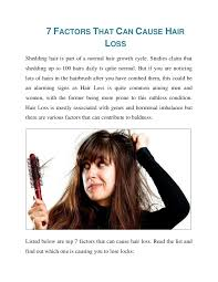 excessive hair shedding causes 7 factors that can cause hair loss