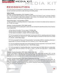 100 Indiana Motor Truck Association MEDIA KIT TABLE OF CONTENTS MEDIA KIT PITT OHIO FACTS ABOUT PITT