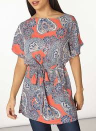 pink paisley tie waist tunic dorothy perkins