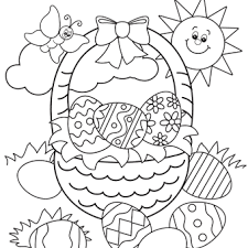 Cool Design Printable Easter Coloring Pages Free For Kids
