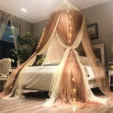 huatan romantische kuppelbett baldachin mit licht prinzessin