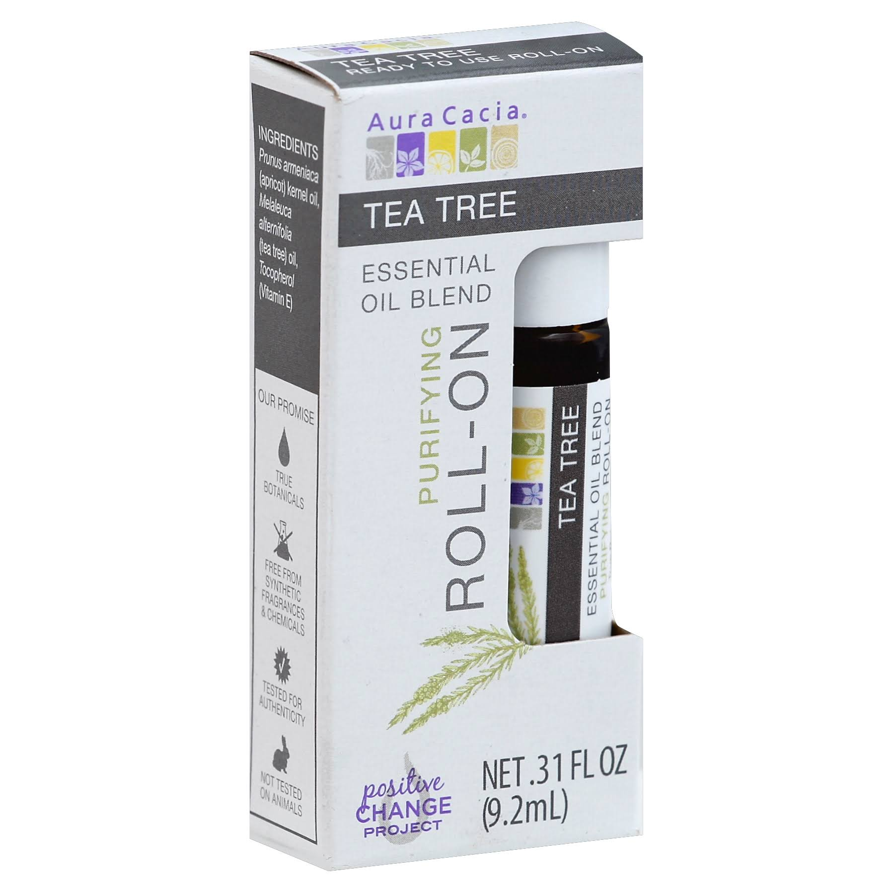 Aura Cacia Essential Oil Blend Roll On - Tea Tree, 9.2ml