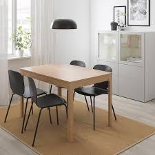 ekedalen svenbertil tisch und 4 stühle eiche schwarz 120 180 cm