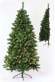 Pre Lit Slim Christmas Tree Walmart by Garden Half Tree Warm Lights Artificial Christmas Trees Timeless