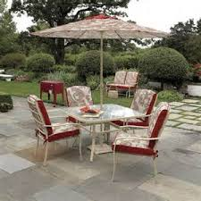 Sears Harrison Patio Umbrella by Garden Oasis Harrison 7 Piece Dining Set Garden Oasis Harrison 7