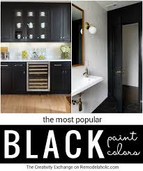Paint Colors For Kitchen Cabinets And Walls by Remodelaholic Most Popular Black Paint Colors