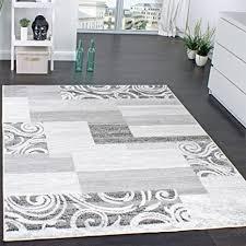 paco home designer teppich wohnzimmer teppich kurzflor muster in grau creme preishammer grösse 160x220 cm