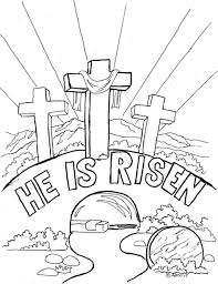 Religious Easter Coloring Pages Colouring For Kids Archives