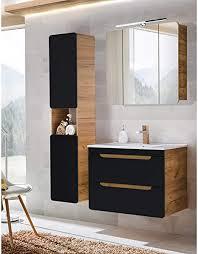 lomadox badezimmer badmöbel set mit keramik waschtisch mit