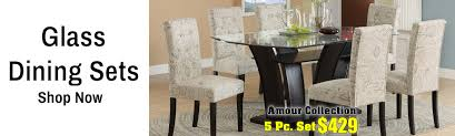 Glass DIning Room Sets Houston