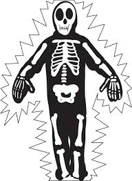 Halloween Skeleton Coloring Page For Kids