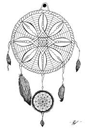 Coloring Page Adult Dream Catcher Tattoo By Allan