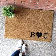 The Custom Initials Doormat
