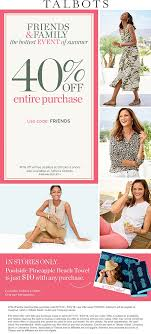 Talbots Coupons - 40% Off At Talbots, Or Online Via Promo ... 50 Off Talbots Coupons Promo Discount Codes Wethriftcom Dealigg Coupons Helpers Chrome The Perfect Cropchambray Top Savings Deals Blogs Dudley Stephens New Releases Coupon Code Kelly In The City Batteries Plus Coupon Code Discount 30 Off Entire Purchase Store Macys 2018 Chase 125 Dollars