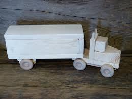handmade wooden toy box trailer semi truck wooden toys green